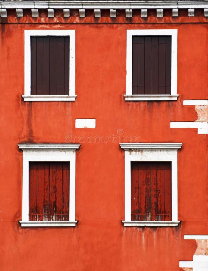 Window. Beautiful Italian windows on building facade stock photography