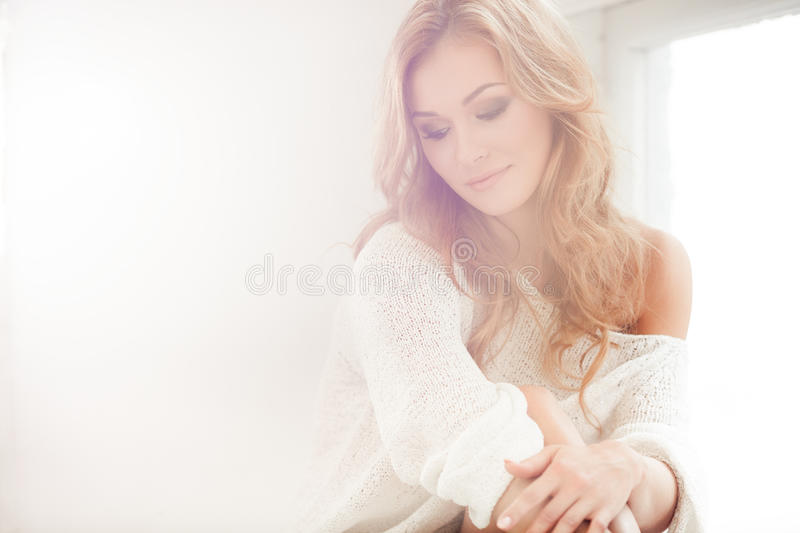 By the window royalty free stock images