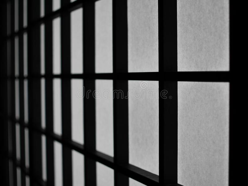 Window in black and white royalty free stock images