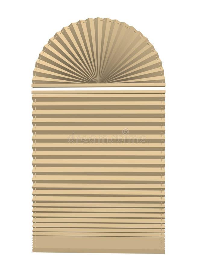 Window blinds. 3d of white stock illustration