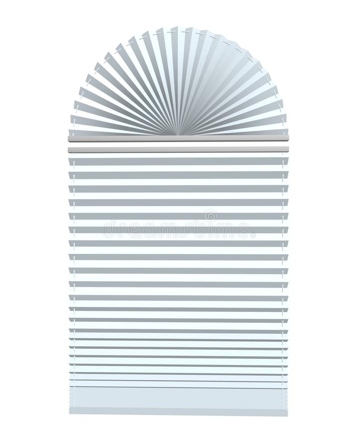 Window blinds. 3d max of white royalty free illustration