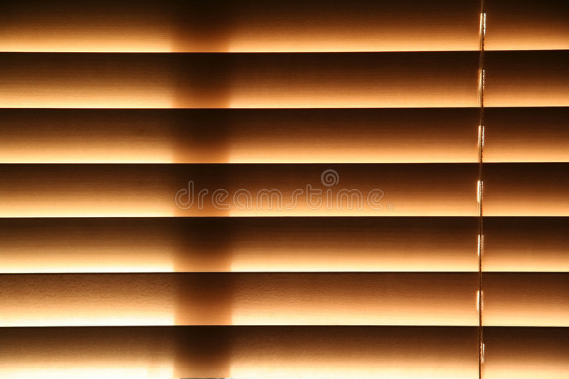 Window Blinds. Wooden Window Blinds stock photography