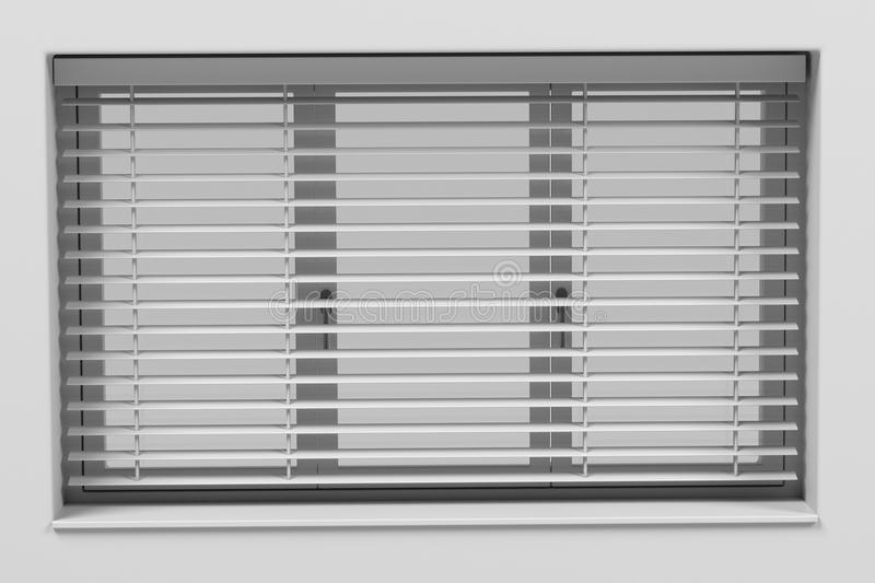 Window with blinds vector illustration