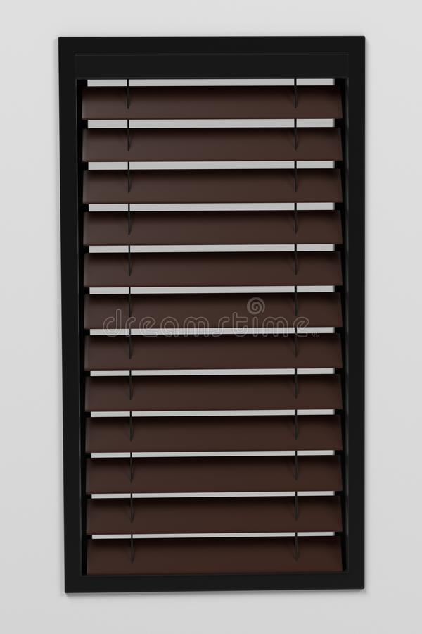 Window with blinds stock illustration