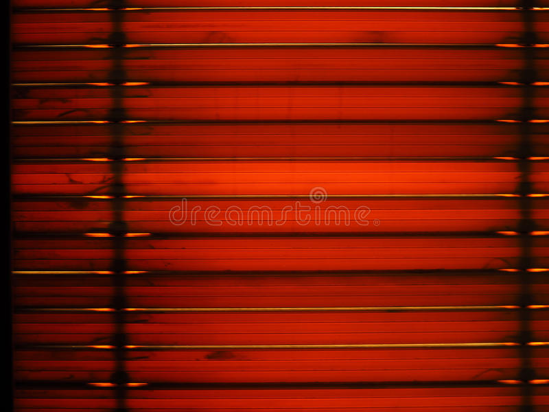 Window blinds with sun light royalty free stock image