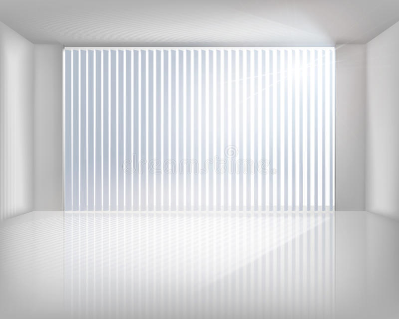 Window with blinds. Vector illustration. Sunlit window with blinds. Vector illustration vector illustration