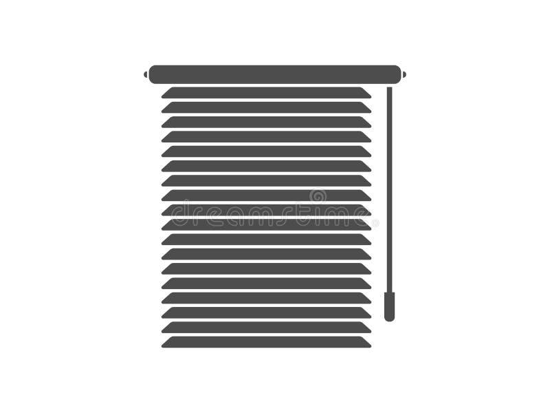 Window Blinds. Windows blinds with rope vector graphic artwork design element vector illustration