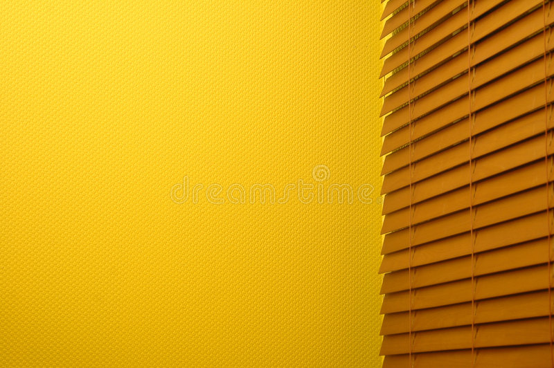 Window Blinds & Yellow Wall stock images