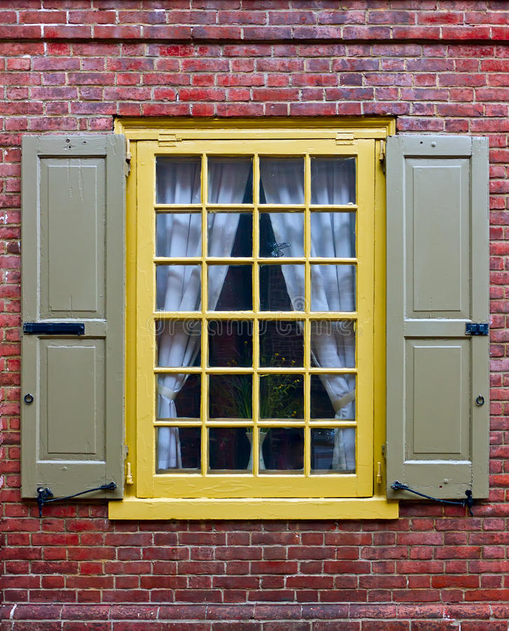 A Window In Brick Wall Royalty Free Stock Photo