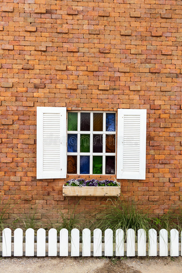 Download Window On Brick Wall. Stock Image - Image: 26546611