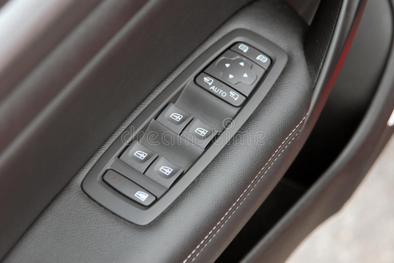 Window button and side mirror switch control stock photography