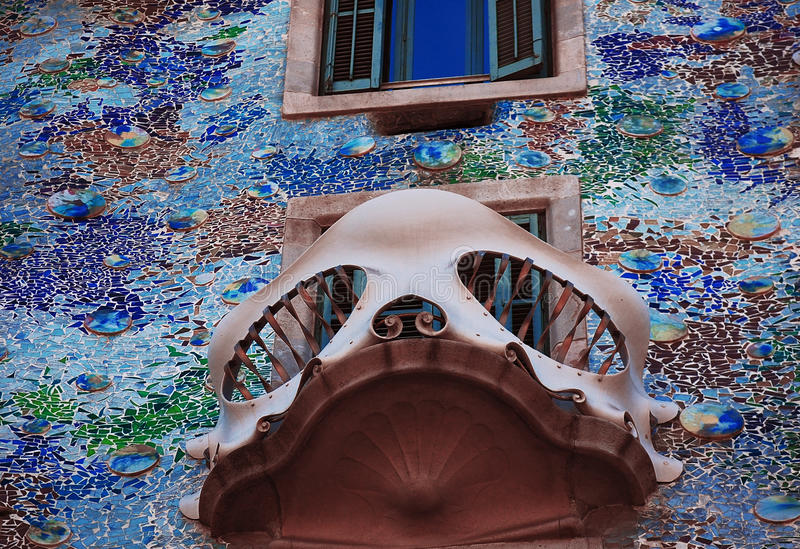 Window of Casa Batllo, Barcelona stock photo