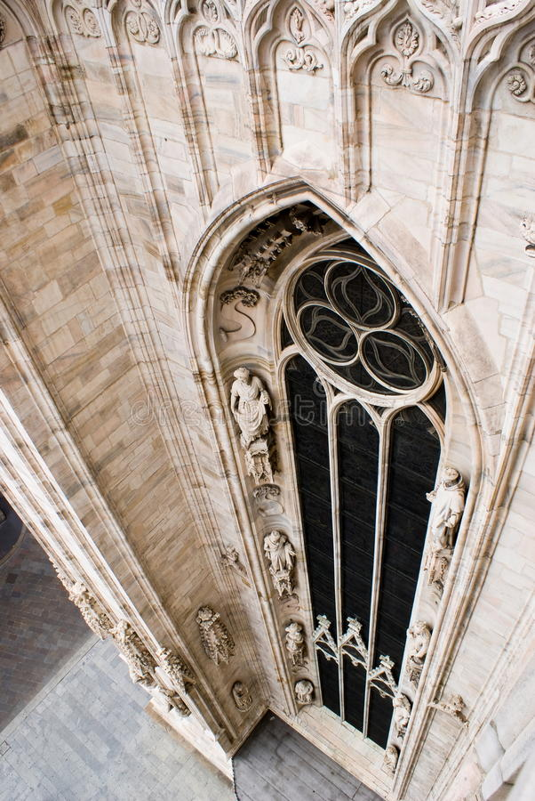 A window of the cathedral of Milan. In Italy, Europe royalty free stock photography