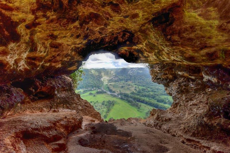 Window Cave - Puerto Rico. View through the Window Cave in Arecibo, Puerto Rico stock photos