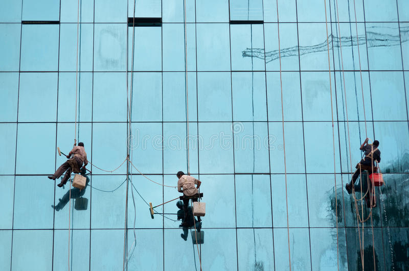 Window cleaner stock image
