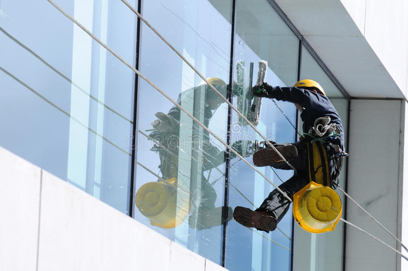 Window cleaner (2) stock images