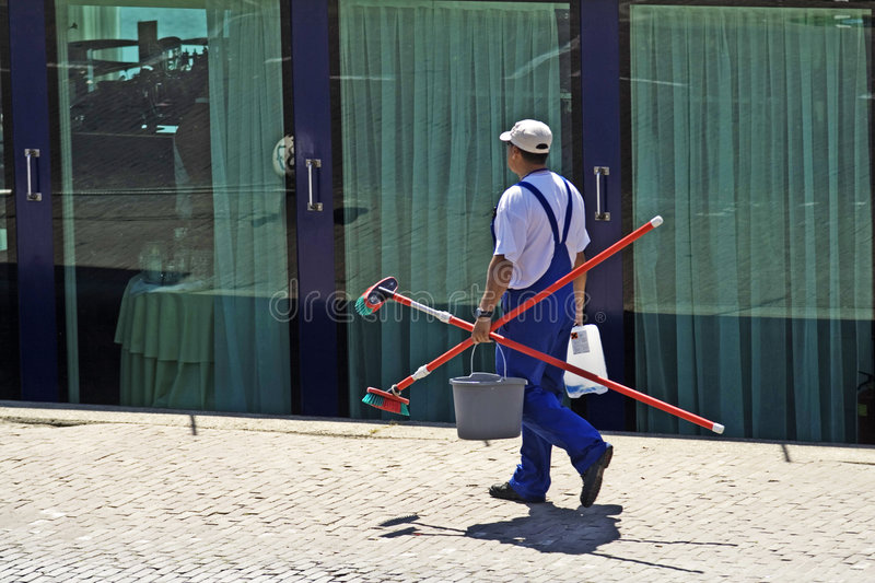 Download Window cleaner stock image. Image of broomstick, male - 2363235