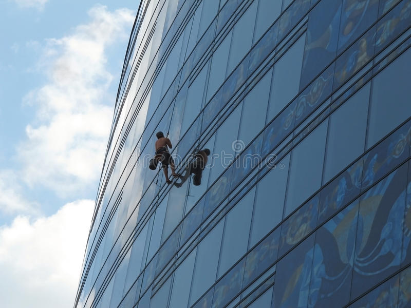 Download Window cleaner stock image. Image of rise, building, high - 26269335