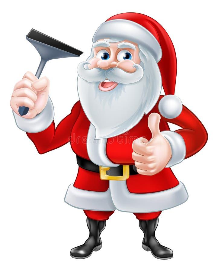 Window Cleaner Santa Stock Vector Image 54428183