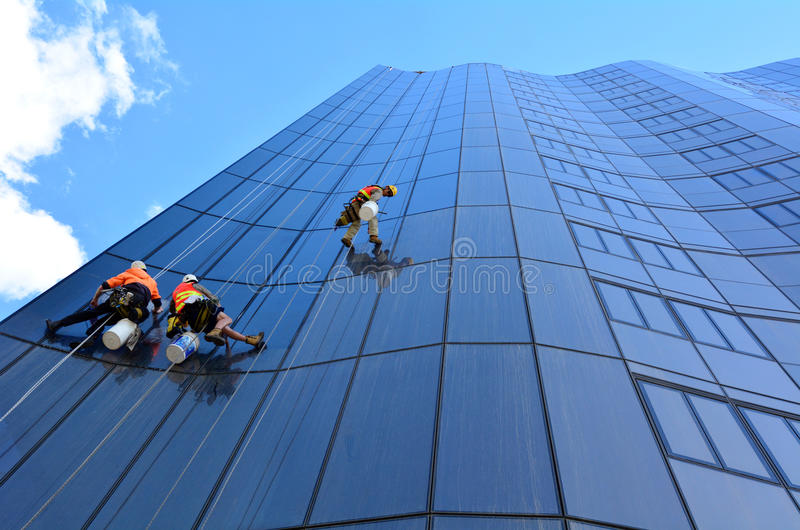 Window cleaners editorial image. Image of outside, office - 40369435