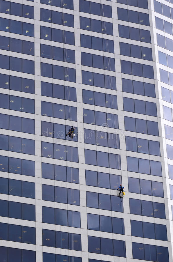 Window Cleaners Works On High Rise Building Editorial Stock Photo ...