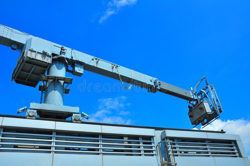 Window Cleaning crane stock image