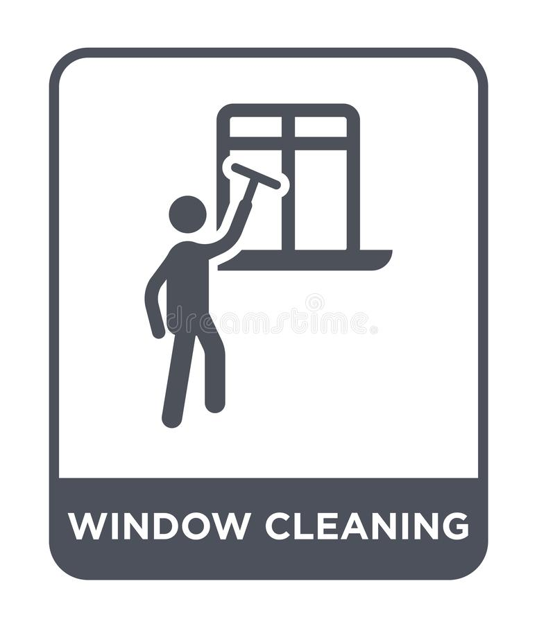 Window cleaning icon in trendy design style. window cleaning icon isolated on white background. window cleaning vector icon simple. And modern flat symbol for royalty free illustration