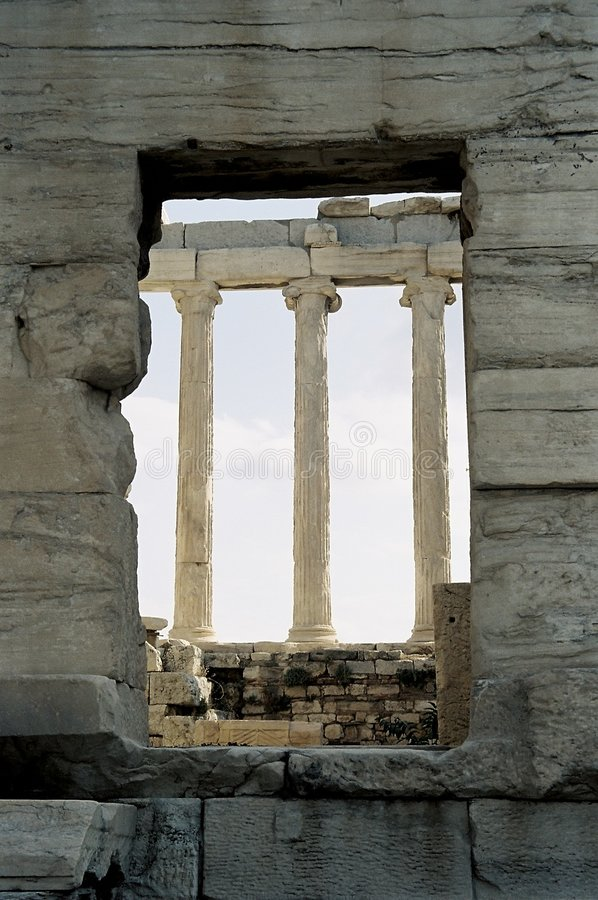 Download Window and columns stock photo. Image of ionic, erechtheion - 148784