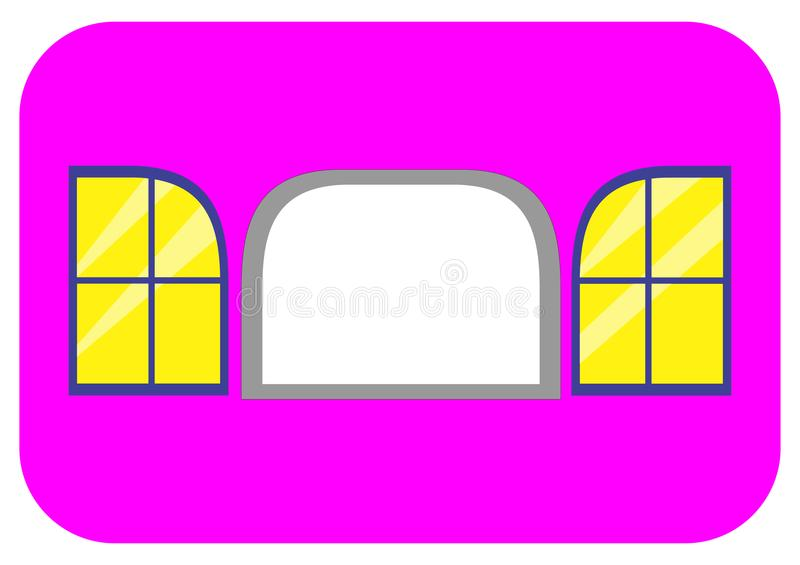 Window with 2 cover on sides royalty free stock photo