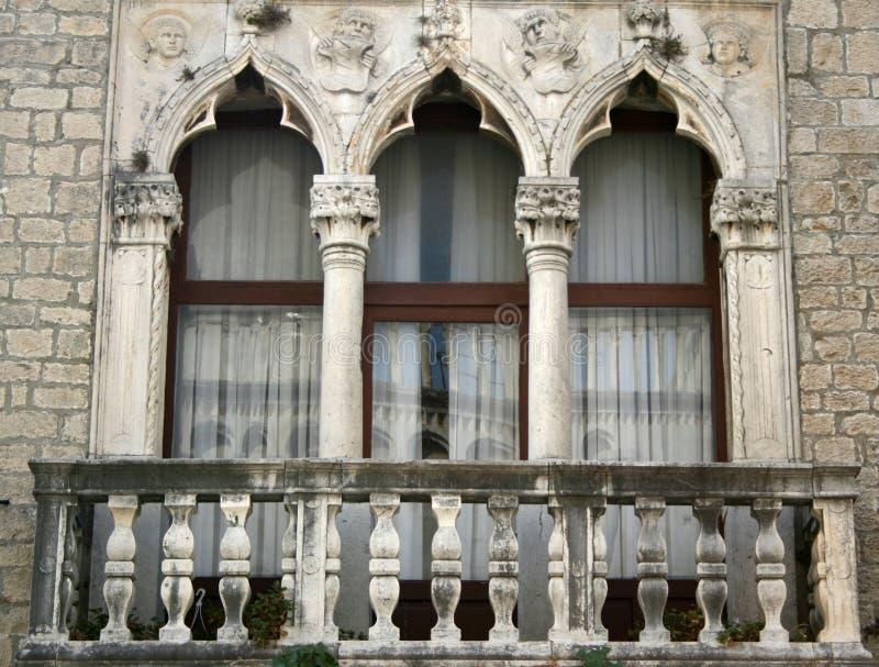 Window in Croatia royalty free stock photography