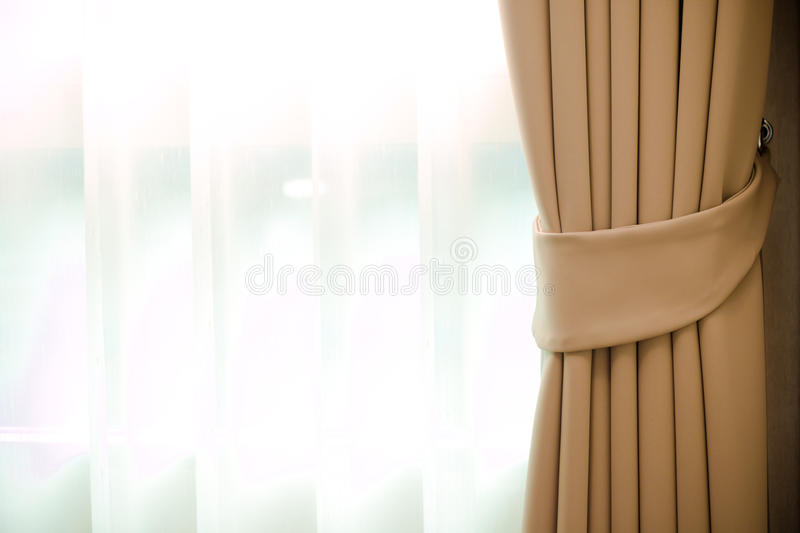 Window curtain royalty free stock photo
