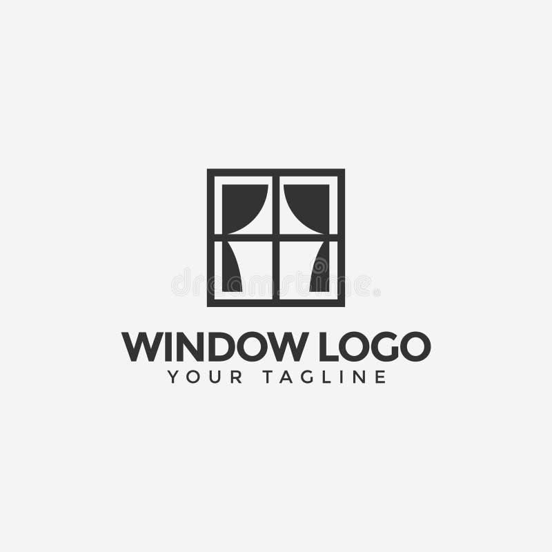 Window With Curtain Logo Design Template stock photos