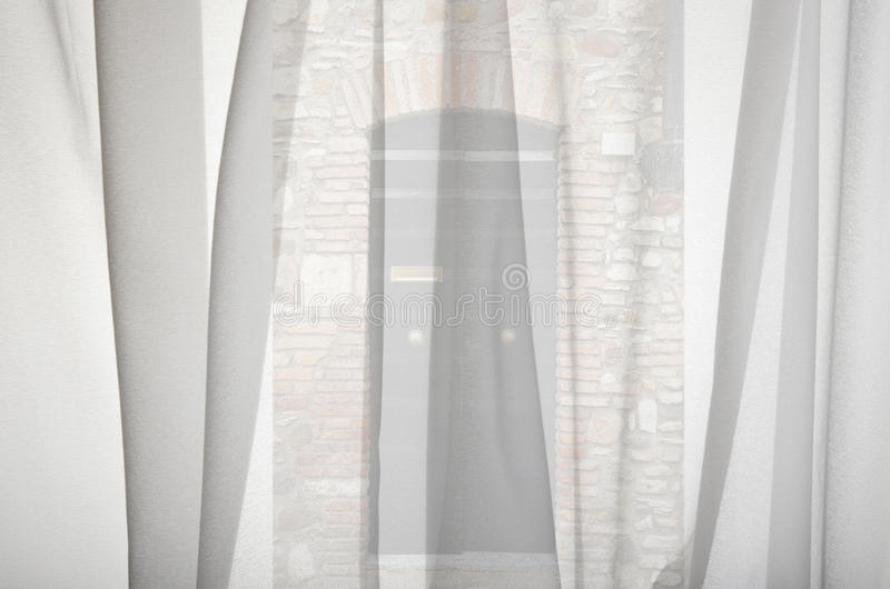 Window Curtain Royalty Free Stock Photography