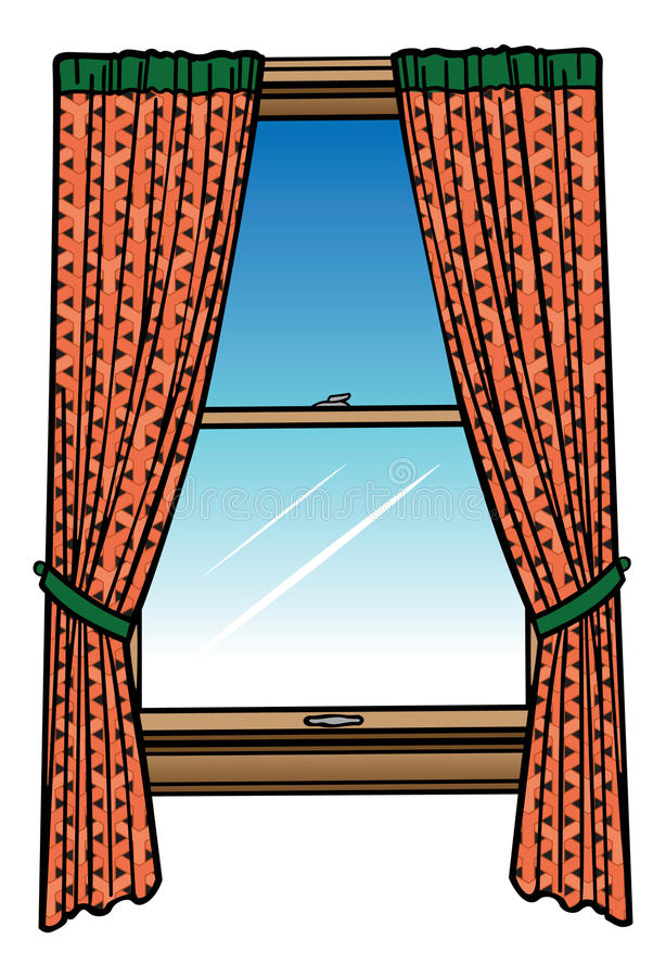 Download Window And Curtains Stock Illustration Of Cartoon