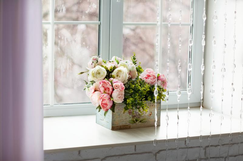 Window with curtains and flowers stock photo image of glass download window with curtains and flowers stock photo image of glass curtains 113586912 mightylinksfo