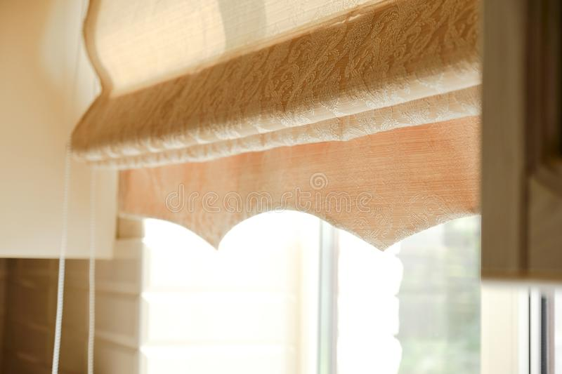 Window with a curtains stock photos
