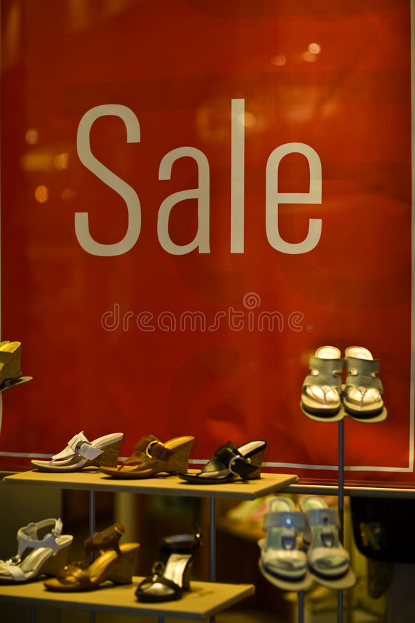 Window display Sale stock photography