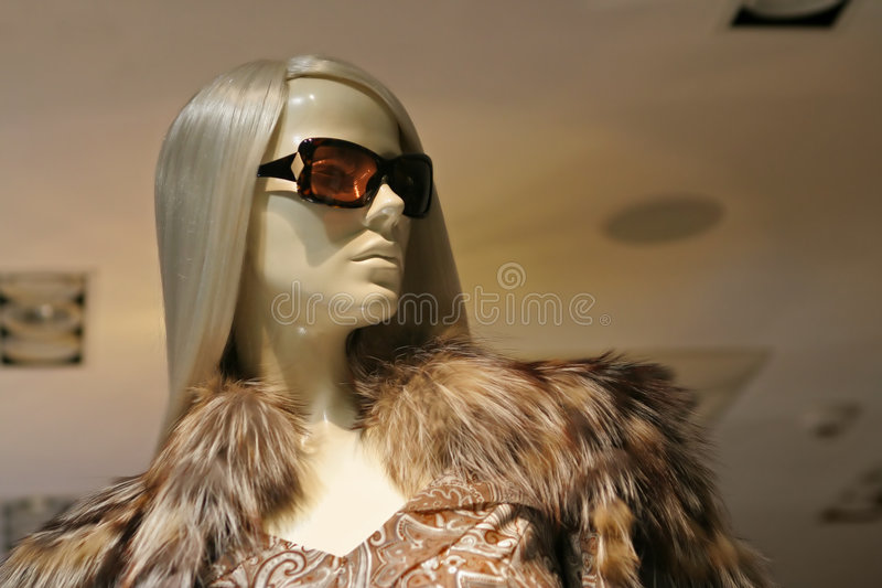 Window-doll royalty free stock images