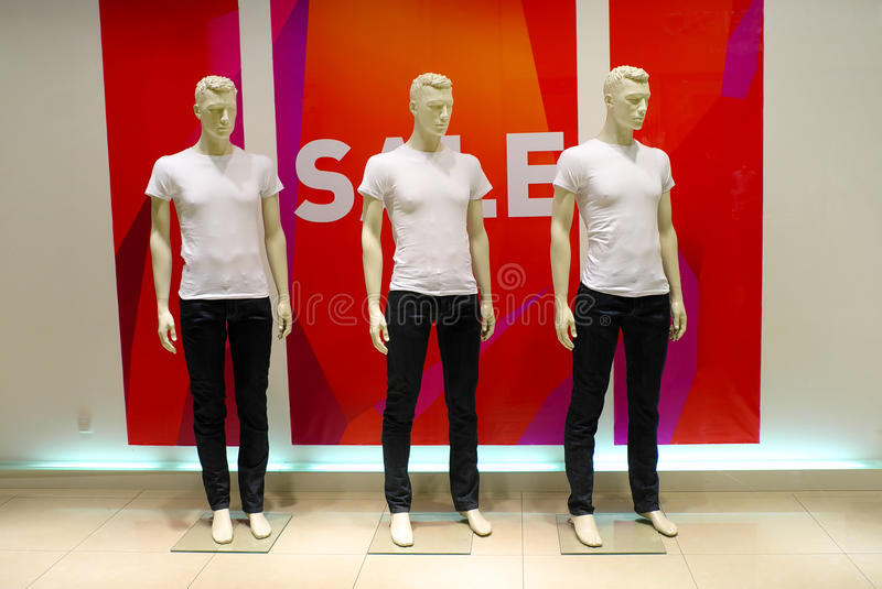 Download Window With Dressed Mannequins Stock Photo - Image: 25522276