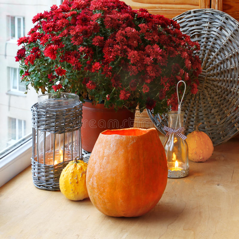 A window eve of holiday on halloween. royalty free stock photos