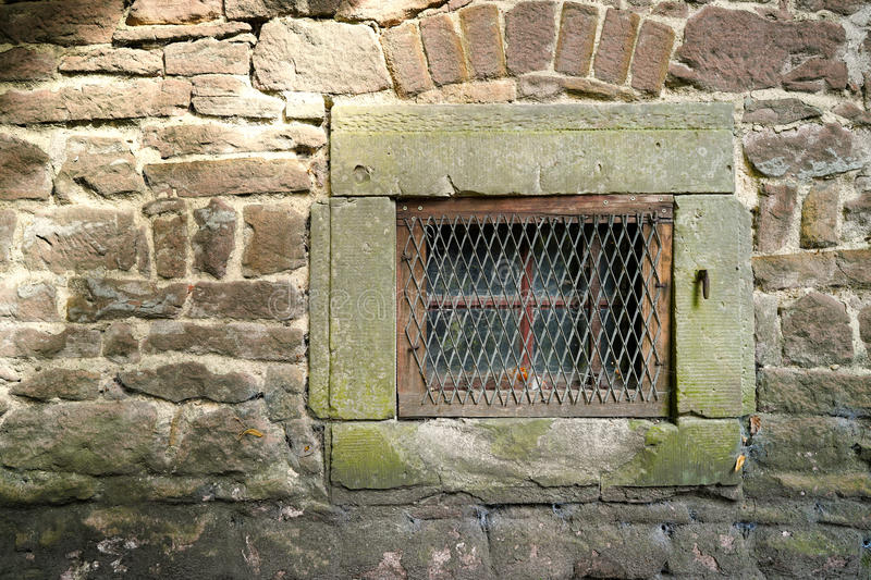 Window. On the facade of a historical building stock image