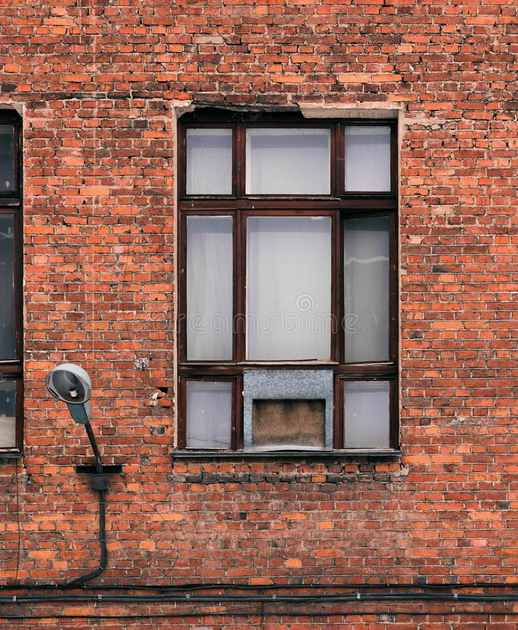 Great Download Window On The Facade Of An Old Brick Building. Loft Style  Architural Stock
