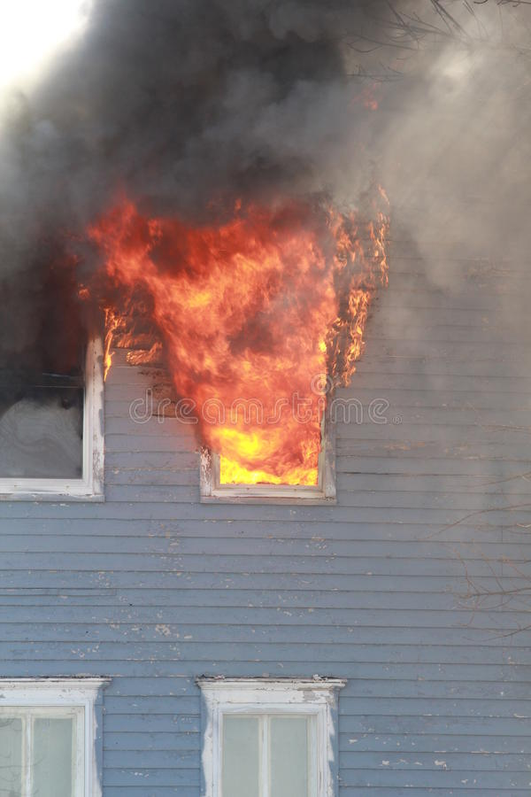 Window in Flames royalty free stock images