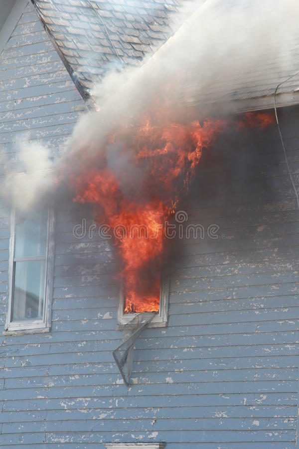 Window in Flames royalty free stock photography
