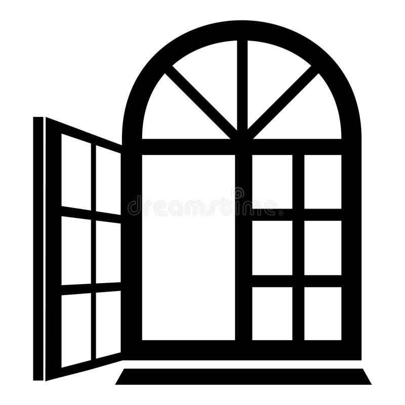 Window Frame Icon, Simple Black Style Stock Vector - Illustration of ...
