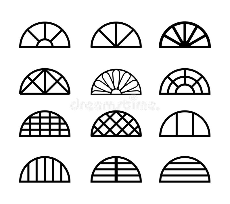 Free Window Frame In Semicircle Shape, Vector Royalty Free Stock Photos - 78848248