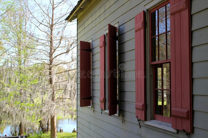 Window frame on old but beautiful farm house / east coast USA royalty free stock images