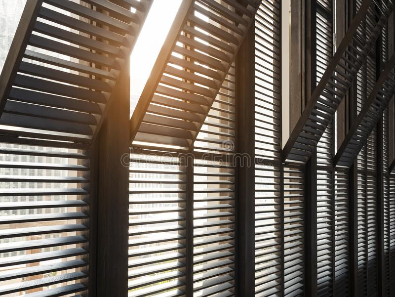 Window frame pattern Architecture details with lighting royalty free stock image