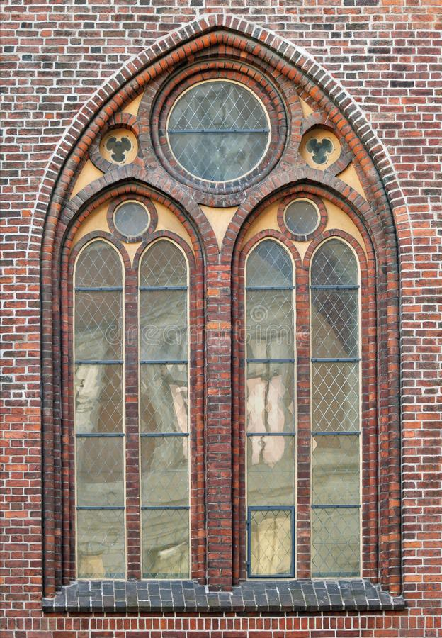 Window of a gothic cathedral royalty free stock images