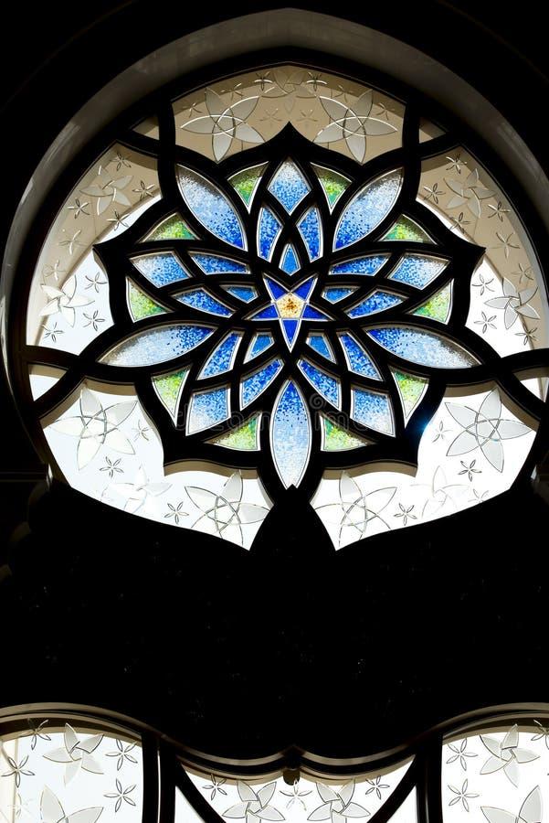 Window Grand Mosque, Abu Dhabi stock photos
